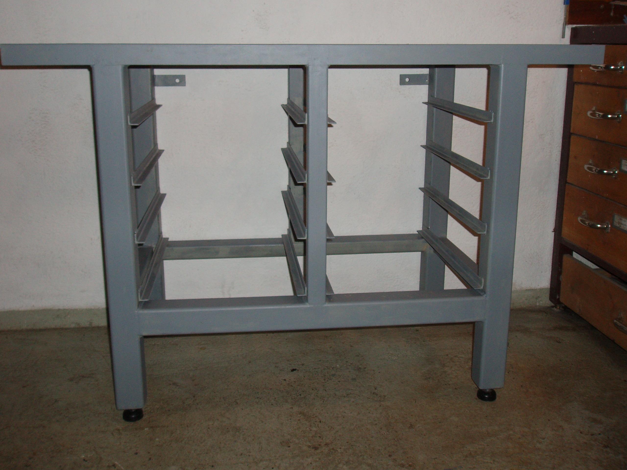 Schweißgestell Stahl / lackiert für eine kl. Drehbank