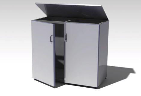 Mülltonnenbox in Industriequalität